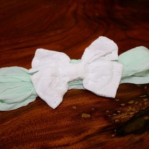 Wendy Bellissimo Green and White Headband